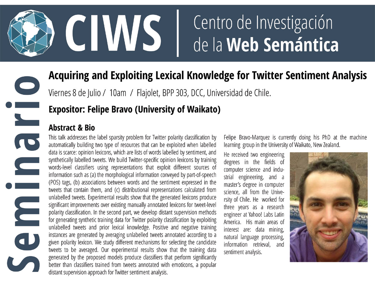 "Charla: ""Acquiring and Exploiting Lexical Knowledge for Twitter"